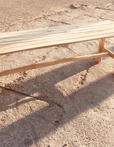 ספסל עץ טיק מגיע ב - 3 מידות