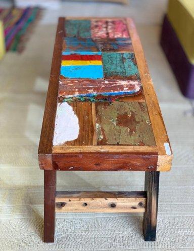 ספסל מעץ טיק ממוחזר