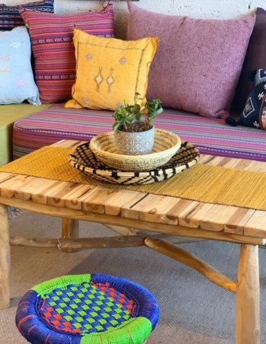 שולחן עץ טיק מלבני