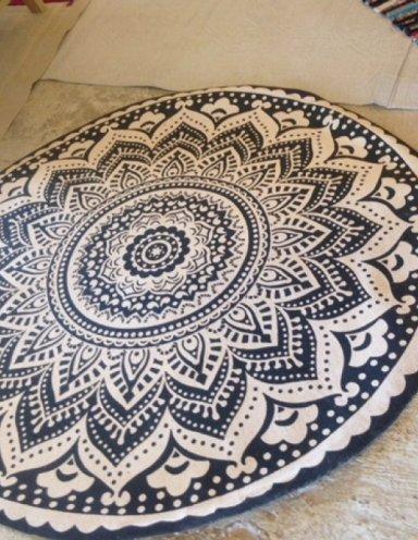שטיח מנדלה עגול
