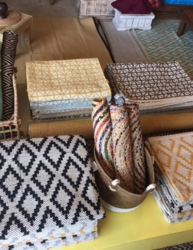 שטיחי כותנה מעויינים