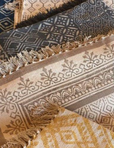 שטיחי כותנה מודפסים