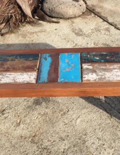 ספסל ממוחזר עץ טיק
